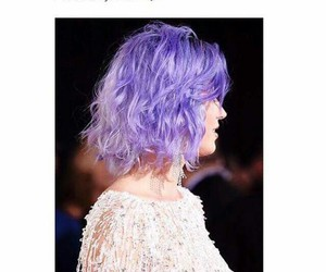 hair, katy perry, and purple image