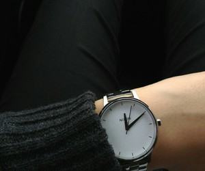 watch, black, and fashion image