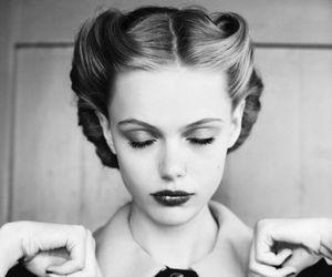 girl, vintage, and model image