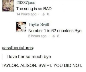 funny, haters, and Taylor Swift image