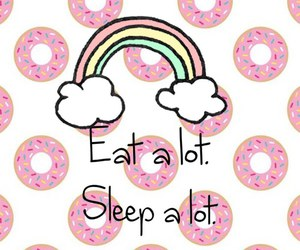 donuts, rainbow, and wallpaper image