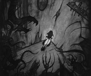 monster, alone, and dark image