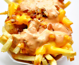 food, fries, and food porn image