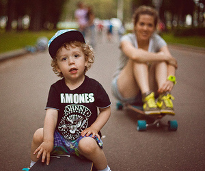 ramones, skate, and kids image