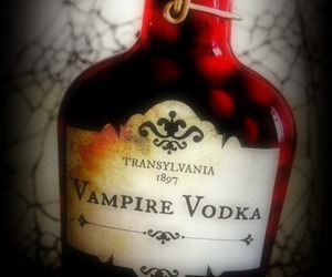 vampire, vodka, and blood image