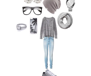 beanie, outfit, and scarf image
