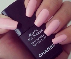 nails, chanel, and pink image