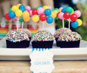 cupcake, food, and balloons image