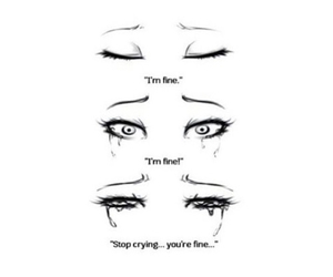cry, sad, and eyes image