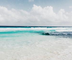 sea, girl, and ocean image