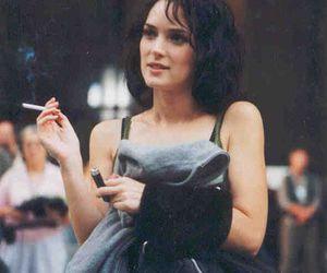 winona ryder, cigarette, and vintage image