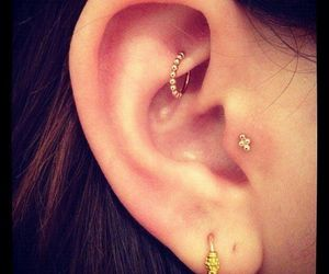 piercing and gold image