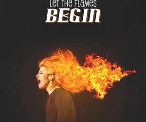 paramore, hayley williams, and fire image