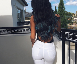 ass, blue hair, and bum image