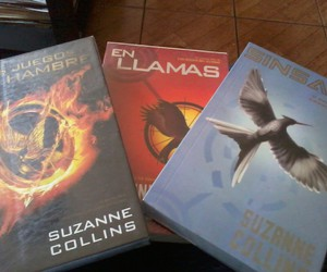 books, hunger games, and suzanne collins image
