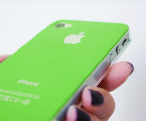 apple, green, and iphone image