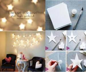 diy, stars, and light image
