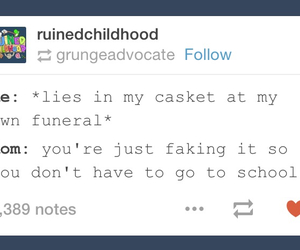 casket, funny, and mom image