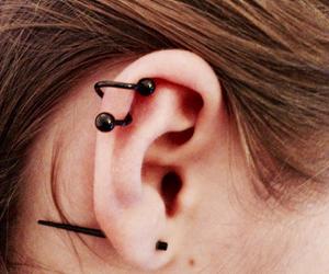 black, gauge, and ear image