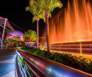 disney world, fountain, and epcot image