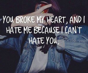 hate, heart, and girl image