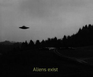 alien, black and white, and aliens image