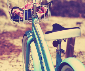 bicycle, blue, and girly image