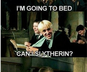 harry potter, funny, and slytherin image
