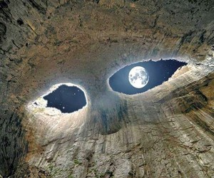 moon, cave, and bulgaria image