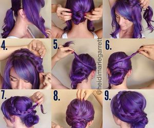 colorful, hair, and diy image