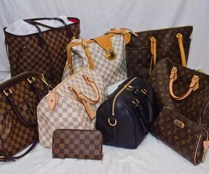bags, brown, and glam image