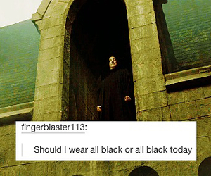 black, harry potter, and snape image