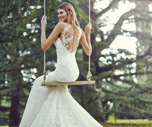 bride, luxury, and wedding dresses image
