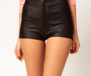 fashion, leather, and hotpants image