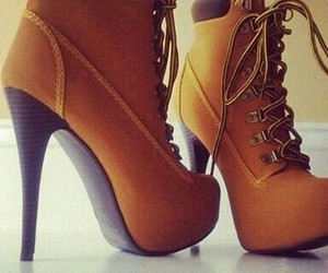 shoes, high heels, and brown image