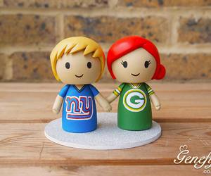 bride, cake topper, and groom image