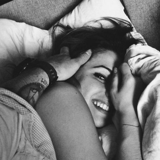 black&white, hold, and hug image