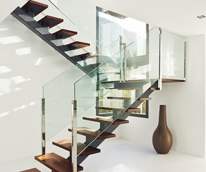 house, beautiful, and stairs image