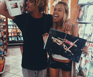 couple, alexis ren, and jay alvarrez image