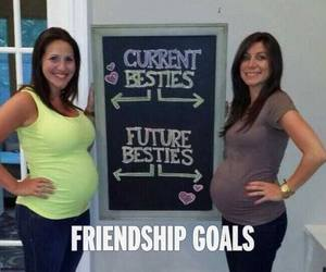 goals, baby, and friendship image