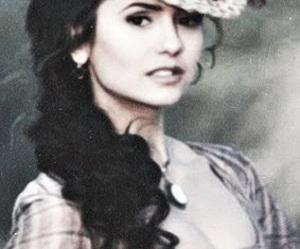 Nina Dobrev, the vampire diaries, and elena gilbert image
