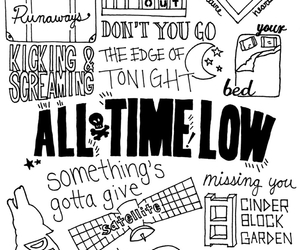 all time low, black and white, and lyric image