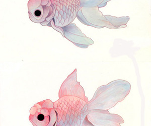fish, art, and goldfish image