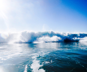blue, summer, and waves image
