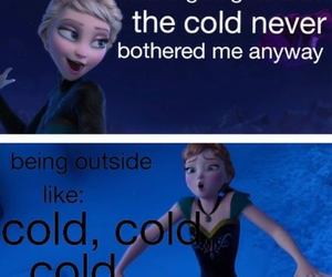 cold, frozen, and funny image