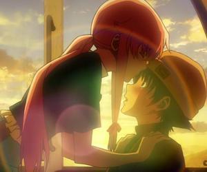 mirai nikki, anime, and kiss image