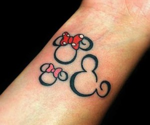 tattoo, disney, and minnie image