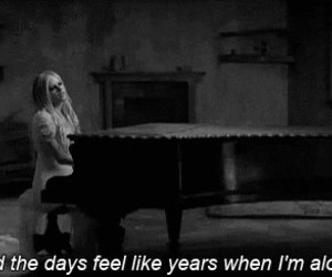 Avril Lavigne, alone, and when you're gone image