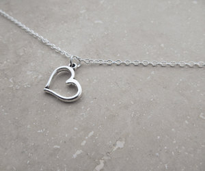 etsy, heart necklace, and popular jewelry image
