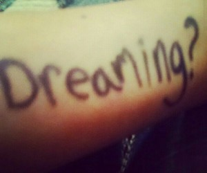 Dream, dreaming, and word image